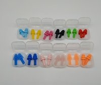 Wholesale earplugs for sleep for sale - Group buy Silicone Earplugs Swimmers Soft and Flexible Ear Plugs for travelling sleeping reduce noise Ear plug colors KKA7771