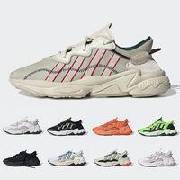 cadılar bayramı için ayakkabı toptan satış-Adidas Ozweego adiPRENE shoes  2019 Pusha T X Ozweego Xeno Men Women Running Shoes Footwear Cloud White Bold Orange Solar Yellow Halloween Tones Core Black Sports Sneakers
