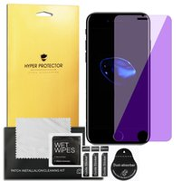 protector anti pantalla azul al por mayor-9H Anti Blue Ray vidrio templado para iPhone 6 7 8 Plus XS MAX XR HD Anti-Blue Light Protector de pantalla de película