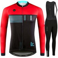 conjuntos de roupas de ciclismo para mulheres venda por atacado-Outono / primavera camisa de ciclismo longo maca ropa maillot roupa bicicleta mtb set homens / mulheres roupas de bicicleta top