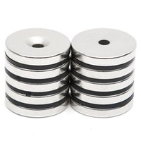 Wholesale 5mm neodymium magnets resale online - ardware Magnetic Materials Hakkin Set Disc Mini x4 mm with Bore mm N52 Rare Earth Strong Neodymium Magnet Bulk Super Strong R