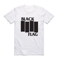 camisas impressas bandeira venda por atacado-Homens da moda Imprimir Bandeira Negra T-shirt Com Manga Curta O-pescoço Banda de Verão Top Tee Casual Tshirt
