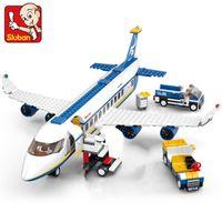 jeu de ville de jouet achat en gros de-463 pcs Ville Aéroport Airbus Avion Avion Avion Avion Technique Building Blocks Ensembles Briques Jouets Éducatifs Pour Enfants J190720