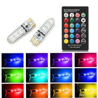 Wholesale red white led strobe for sale - Group buy T10 W5W LED Car Lights LED Bulbs RGB With Remote Control Strobe Led Lamp Reading Lights White Red Amber V