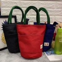 ingrosso contenitore di tela-Carry Bag Canvas accumulo coibentato fredda picnic Caso pranzo termica di sicurezza necessari per il viaggio del contenitore Picnic del Tote