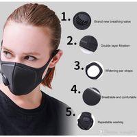 Wholesale anti fog dust mask for sale - Group buy Respiratory Dust Mask Upgraded Version Men Women Anti fog Haze Dust Pm2 Pollen D Cropped Breathable Valve Mask
