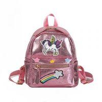 Wholesale teenagers girl dresses for sale - Women Rainbow unicorn Backpack Cute Teenager cartoon Shoulder Bag embroidery Children Girls Travel School Outdoor Knapsack AAA1687