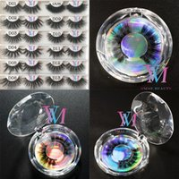 Wholesale beautiful lashes resale online - Beautiful Mixed Styles Dramatic Handmade D Faux Mink Lashes mm Lashes Cruelty Free Wispies Fluffies False Eyelashes Makeup