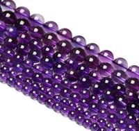 ingrosso collana della perla del branello-95 pz / filo 4mm russo ametista gemme rotonde di cristallo sciolto perline adatto gioielli fai da te collane o bracciali 15