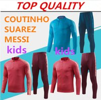 kinder jungen anzüge großhandel-Langarm-Trainingsanzug für Kinder 2019 MESSI Trainingsanzug-Trainingsjacke SUAREZ COUTINHO Trainingsanzug Kinder Jungen Fußball