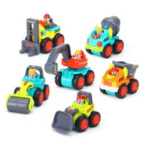 Wholesale toys construction set resale online - Construction Vehicle Cars Toys Inertia Model Mini Dump Truck Tractor Per Set Boy Gifts mm F1