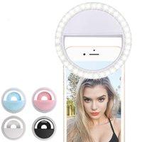 selbstbedienung für handy großhandel-Aufladungs-LED-Blitzschönheitsfülle der Großhandelsselbstleuchte der Selfie-Lampe im Freien, die für alle Handy wieder aufladbar ist
