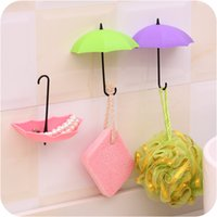 lindos ganchos para llaves al por mayor-Nuevo Umbrella Wall Hook 3 unids / set Lindo Umbrella Wall Mount Key Holder Gancho de pared Organizador de suspensión Durable Key Holder
