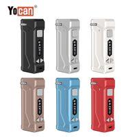 велюровые перья оптовых-Оригинал yocan уни батареи Vape e сигареты коробка мод сигарета 650mah разогреть ВВ светодиодный дисплей батареи Vape ручка картриджи батарея для 510 Атомизатор