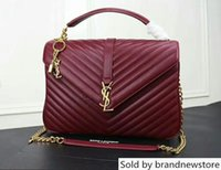 Wholesale football prices resale online - Price Sell High Quality Brand Women Matelasse Leather Handbag Gold silver Chain Shoulder Bag