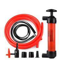 Wholesale new car fuel resale online - New Hot Portable Manual Oil Pump Siphon Tube Car Hose Fuel Gas Extractor Transfer Sucker