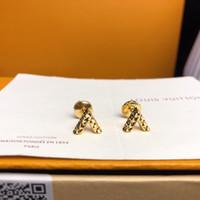 mode ohrstöpsel großhandel-Schmuckkollektion Designer-Ohrringe V Ohrstecker 18 Karat Gold Fliegende Untertasse Ohrstöpsel 2019 Luxus-Modeaccessoires Ideale Geschenkauswahl