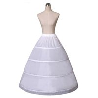 Wholesale bride line petticoats resale online - White Hoops Ball Gown Petticoat Wedding Accessories Bride Crinoline