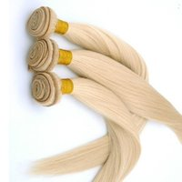 Wholesale 6a straight virgin human hair for sale - Group buy Platinum Color Inch Unprcessed Virgin Straight Hair Bundles a Double Weft Brazilian Hair Weave Bundles Human Hair Weaving