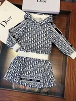 Wholesale cashmere for kids clothes for sale - Group buy Baby girl fashion designer dress set knitting swaeter dress autumn winter fashion casual style clothing set for kid girl outfit c2