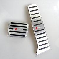 capas de pedal para carros venda por atacado-Sem Broca alumínio Gás Car pedal do acelerador Pedal Brake Pedal Tampa Para Audi A3 (2009-2013) Q3 (2012-2018) TT (2.009-2.018)