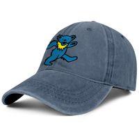 chapeaux ajustables achat en gros de-Chapeau pour hommes lavé mens chapeau plat-long réglable reconnaissant ours mort bleu chapeaux de baseball de coton punk hip-hop chapeaux de voyage d'été casquette de cadet armée