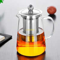 Wholesale heat resistant glass ship for sale - Group buy ml Clear Heat Resistant Glass Tea Pot Kettle With Infuser Filter Tea Jar Home Office Tea Coffee Tools