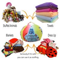 fasulye eşyaları oyuncak toptan satış-Taşıyıcı ile 26 inç Depolama Bean Bag Doldurulmuş Hayvan Noel Peluş Oyuncak Organizatör İlginç Depolama Kılıfı Bean Saplı Çantalar LJJK1894