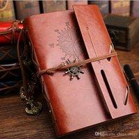 ingrosso agenda di cuoio-DHL Vintage Notebook Blocco note Pelle Diario Bibbia Libro Zakka Riviste Agenda Agenda Pianificatore Scuola Forniture per ufficio di cancelleria