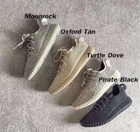 envío gratis zapatillas originales al por mayor-V1 Moonrock Oxford Tan Pirata Negro Blanco Completo Negro Zapatillas de correr Zapatillas Kanye West Con Caja Original Sports envío gratis
