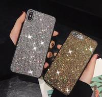 kristall für gehäuse telefon großhandel-Luxus Bling Diamant Telefon Fall Shiny Crystal Cover für iPhone 6 S 7 7 Plus 8 8 Plus X 10 XR XS max
