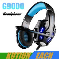ingrosso auricolare ogni-KOTION OGNI G9000 Gaming Headphone 3.5mm Game Headset Headphone per PS4 con Mic LED Light