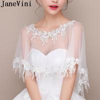 белая кружевная рубашка оптовых-JaneVini Свадебные наручники из бисера и кружевной аппликации