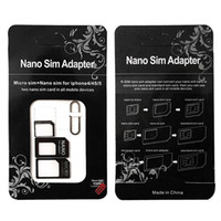 Wholesale sim needle for sale - Group buy New In Noosy Nano Micro SIM Card Converter Adapter Kit Tools Universal Sim Card Needle For Samsung Huawei Xiaomi with Retail Box