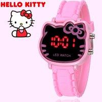 7264d88dbf37f7 2019 Hello Kitty Cartoon orologi Kid ragazze Relogios cinturino in silicone  rosa bambini orologio da polso digitale a led Nina Reloj Nino Orologi