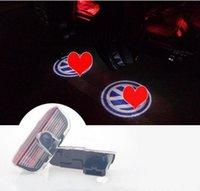 ingrosso luci jetta-2X Car Ghost Shadow Door Weclome Logo Proiettore Luce Per VW Passat B6 B7 Tiguan Jetta MK5 MK6 CC EOS Golf 5 6