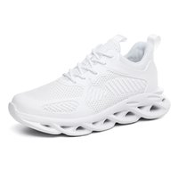 laçage invisible achat en gros de-2019 Chaussures montantes de hauteur invisible pour hommes - Cuir gris / Baskets légères à lacets Baskets - 3,4 pouces de hauteur
