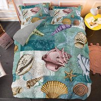 Wholesale bedspreads for king sized beds for sale - Group buy Cartoon Ocean Animals Bedding Set Shell Octopus Jellyfish Duvet Cover For Kids Children Bedspread Queen King Size Bed Set
