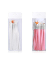 cepillo de gel de uñas uv al por mayor-Nail Art Brushes Pinceles de Decoración Set Nail Art Pintura Pluma Para Uñas Falsas Uñas UV Gel Pinceles de Esmalte 15 unids / set RRA1325