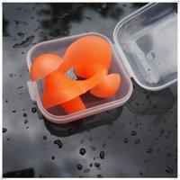 tapones para los oídos al por mayor-Auriculares impermeables 1 par de silicona ambiental Espiral Tapones para los oídos a prueba de polvo a prueba de polvo en la caja Deportes al aire libre Accesorios de natación