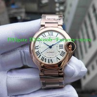 Wholesale gold round balloons for sale - Group buy NEW Factory Photographs Men s W69004Z2 blue balloon Watch MM Rose Gold Automatic Movement Work Sport Wrist Watches Original Box