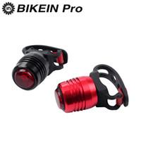usb перезаряжаемые велосипедные фонари оптовых-BIKEIN MTB Bike Taillight Rainproof Rear light Led USB Rechargeable Mountain Bike Light Taillamp Bicycle Lights Accessories
