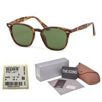 lunettes de soleil gratuites achat en gros de-Lentille en verre UV400 de qualité supérieure Lunettes de soleil carrées Femmes Hommes Marque Designer cool street men Gafas lunettes de soleil avec étui gratuit et et étiquette