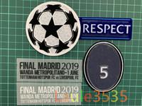 ingrosso le zone di trasferimento di calore-FINALE Madrid 2019 - 1 giugno Dettaglio partita Patch UCL FINALE Partita Testo per M.Salah MANE Firmino Kane Heat Transfer 2019 campioni Calcio Badge