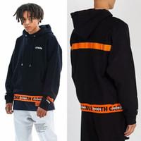 new york hoodies hommes achat en gros de-New York Hip Hop 3M Héron Preston Réfléchissant Sweatshirts Hommes Orange Broderie Surdimensionné HP Crane Casual Hoodies Hommes