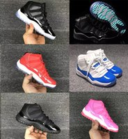 Wholesale good kids shoes for sale - Group buy Kids sneakers s basketball shoes for boys girls bred legend gamma blue concord pantone good quality US size C Y