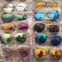 Wholesale uv protective sunglasses resale online - Fashion Sunglasses Kids Beach Supplies UV Protective Eyewear Unisex Sunshades Glasses Metal Full Frame Sun Glasses GGA3426