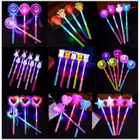 peri ışık oyuncakları toptan satış-Konser Karikatür Işık Çubuk Oyuncaklar Çocuk Peri Çubuk Sihirli Flaş Aşk Hayvan Şekle LED Işık Oyuncak GGA2616 Sticks LED