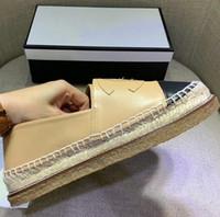 kalk schuhe großhandel-Klassische Sommer Sandalen Luxus Espadrilles Fischer Schuh Niedrige Ferse Echtes Leder Freizeitschuhe Viele Farbe Größe 35-42