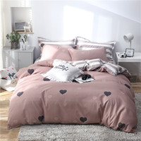 Wholesale red rose quilt cover sets for sale - Group buy New Love Bedding Sets Duvet Cover cartoon Bed Sheets Pillowcases twin queen king quilt Comforter cover Good quality bedclothes